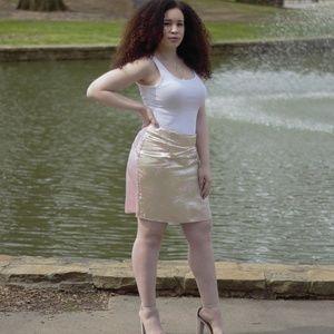 Brocade/satin pencil skirt